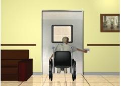 장애인 시스템 자동문